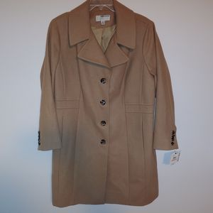 Anne Klein button-up trench coat
